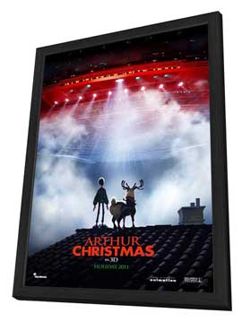 Arthur Christmas - 27 x 40 Movie Poster - Style A - in Deluxe Wood Frame