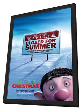 Arthur Christmas - 11 x 17 Movie Poster - Style C - in Deluxe Wood Frame
