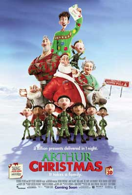 Arthur Christmas - 11 x 17 Movie Poster - UK Style B