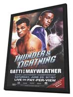 Arturo Gatti vs. Floyd Mayweather - 11 x 17 Boxing Promo Poster - Style A - in Deluxe Wood Frame