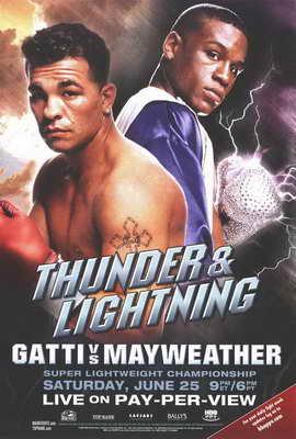 Arturo Gatti vs. Floyd Mayweather - 11 x 17 Boxing Promo Poster - Style A