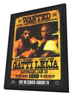 Arturo Gatti Vs James Leija - 11 x 17 Boxing Promo Poster - Style A - in Deluxe Wood Frame