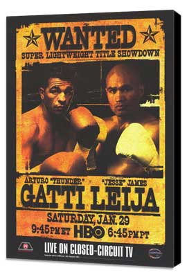 Arturo Gatti Vs James Leija - 11 x 17 Boxing Promo Poster - Style A - Museum Wrapped Canvas