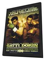 Arturo Gatti vs Leonard Dorin - 11 x 17 Boxing Promo Poster - Style A - in Deluxe Wood Frame