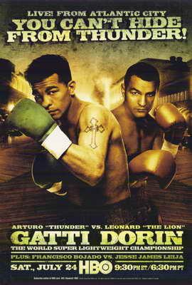 Arturo Gatti vs Leonard Dorin - 11 x 17 Boxing Promo Poster - Style A