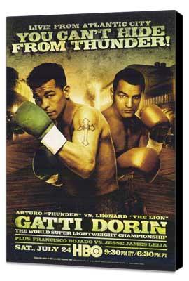 Arturo Gatti vs Leonard Dorin - 11 x 17 Boxing Promo Poster - Style A - Museum Wrapped Canvas