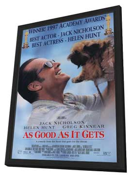 As Good As It Gets - 11 x 17 Movie Poster - Style B - in Deluxe Wood Frame