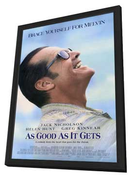 As Good As It Gets - 27 x 40 Movie Poster - Style A - in Deluxe Wood Frame