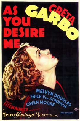 As You Desire Me - 11 x 17 Movie Poster - Style A