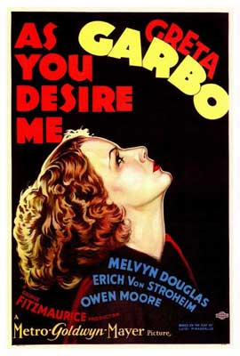 As You Desire Me - 27 x 40 Movie Poster - Style A