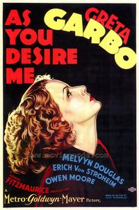 As You Desire Me - 43 x 62 Movie Poster - Bus Shelter Style A