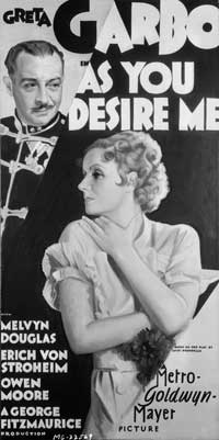 As You Desire Me - 20 x 40 Movie Poster - Style A