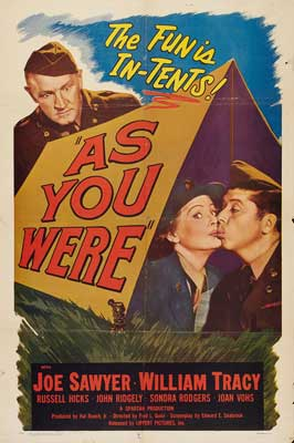As You Were - 11 x 17 Movie Poster - Style A