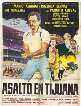 Asalto en Tijuana - 11 x 17 Movie Poster - Spanish Style A