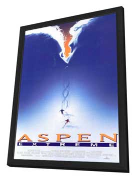 Aspen Extreme - 27 x 40 Movie Poster - Style B - in Deluxe Wood Frame