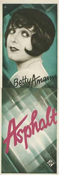 Asphalt - 20 x 60 - Door Movie Poster - German Style A