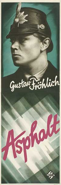 Asphalt - 20 x 60 - Door Movie Poster - German Style B