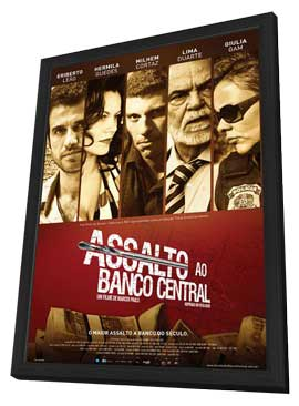 Assalto ao Banco Central - 11 x 17 Movie Poster - Brazilian Style A - in Deluxe Wood Frame