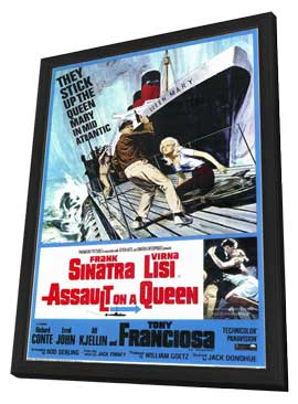 Assault on a Queen - 11 x 17 Movie Poster - Style A - in Deluxe Wood Frame