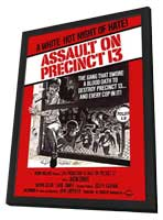 Assault on Precinct 13 - 27 x 40 Movie Poster - Style B - in Deluxe Wood Frame