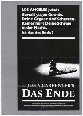 Assault on Precinct 13 - 11 x 17 Movie Poster - German Style A