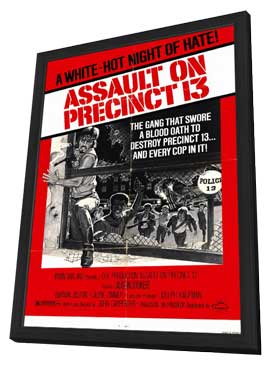 Assault on Precinct 13 - 11 x 17 Movie Poster - Style A - in Deluxe Wood Frame