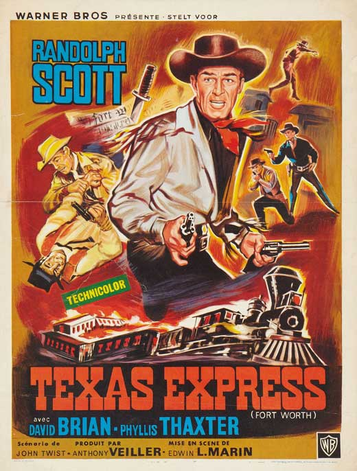 PCG Fort Worth Poster Movie Belgian 27 x 40 Inches - 69cm x 102cm Randolph Scott David Brian Phyllis ThBGter Helena Carter at Sears.com