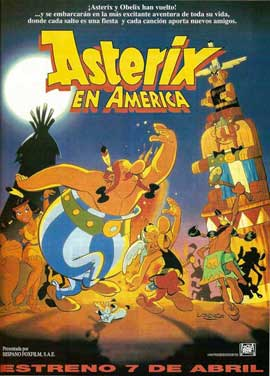 Asterix Conquers America - 11 x 17 Movie Poster - Spanish Style A