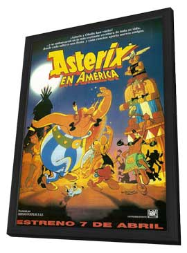 Asterix Conquers America - 11 x 17 Movie Poster - Spanish Style A - in Deluxe Wood Frame