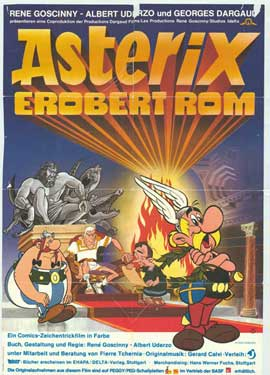 Asterix Conquers Rome - 11 x 17 Movie Poster - German Style A