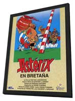 Asterix in Britain - 27 x 40 Movie Poster - Spanish Style A - in Deluxe Wood Frame