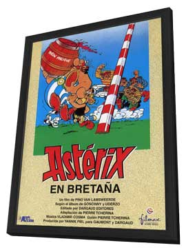 Asterix in Britain - 11 x 17 Movie Poster - Spanish Style A - in Deluxe Wood Frame