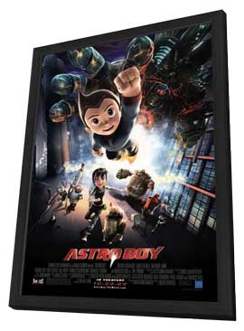 Astro Boy - 27 x 40 Movie Poster - Style C - in Deluxe Wood Frame