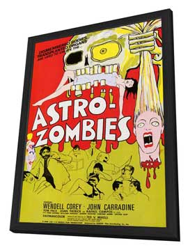 Astro-Zombies - 11 x 17 Movie Poster - Style A - in Deluxe Wood Frame