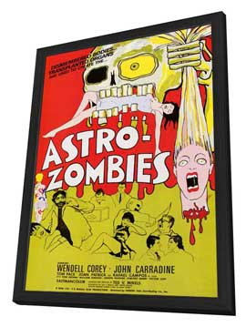 Astro-Zombies - 27 x 40 Movie Poster - Style A - in Deluxe Wood Frame