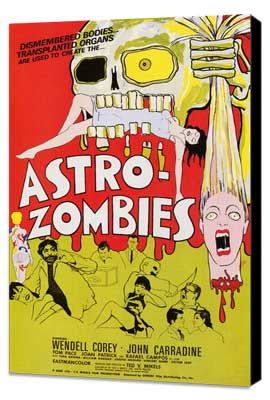 Astro-Zombies - 27 x 40 Movie Poster - Style A - Museum Wrapped Canvas