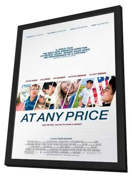 At Any Price - 27 x 40 Movie Poster - Style A - in Deluxe Wood Frame