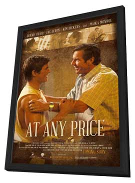 At Any Price - 27 x 40 Movie Poster - Style B - in Deluxe Wood Frame