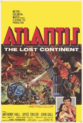 Atlantis, The Lost Continent - 27 x 40 Movie Poster - Style A