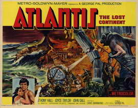 Atlantis, The Lost Continent - 22 x 28 Movie Poster - Half Sheet Style A