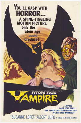 Atom Age Vampire - 27 x 40 Movie Poster - Style A
