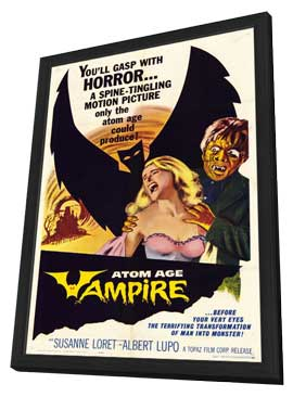Atom Age Vampire - 11 x 17 Movie Poster - Style A - in Deluxe Wood Frame