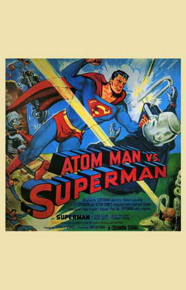 Atom Man vs. Superman - 11 x 17 Movie Poster - Style D