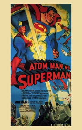 Atom Man vs. Superman - 11 x 17 Movie Poster - Style E