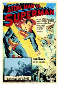 Atom Man vs. Superman - 43 x 62 Movie Poster - Bus Shelter Style A