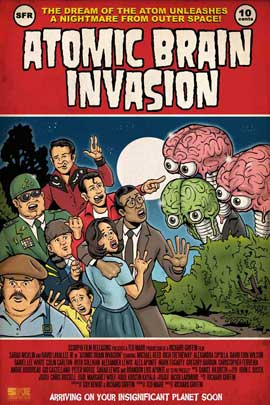 Atomic Brain Invasion - 11 x 17 Movie Poster - Style A