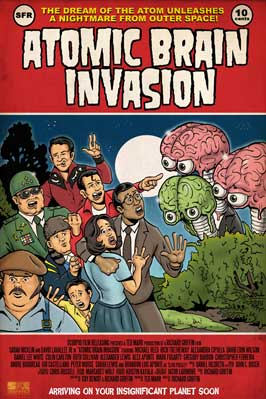 Atomic Brain Invasion - 43 x 62 Movie Poster - Bus Shelter Style A