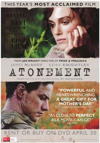 Atonement - 43 x 62 Movie Poster - Bus Shelter Style D
