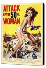 Attack of the 50 Foot Woman - 11 x 17 Movie Poster - Style A - Museum Wrapped Canvas
