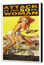 Attack of the 50 Foot Woman - 14 x 36 Movie Poster - Insert Style A - Museum Wrapped Canvas